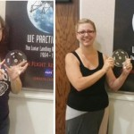 Amanda Sullivan [left] from Tierra Bonita Elementary and Terra Pennsy from Columbia Elementary took part in a NASA Office of Education Lunar and Meteorite Certification workshop for K-12 educators. NASA has now certified Sullivan and Pennsy to have actual parts of the moon in their classrooms for student science labs. [contributed images]