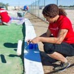 Jasmine Palmer led the effort to restore Desert High School's mini golf course and host a carnival for the school Nov. 18.