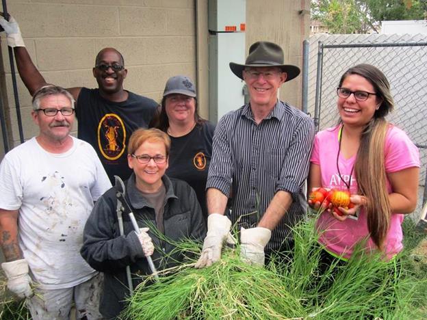 Elm Avenue Community Garden volunteers. [contributed]