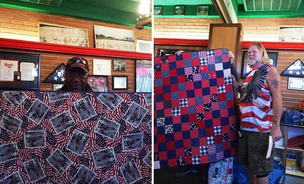 [Contributed images courtesy Antelope Valley Quilt Association. This photo taken by Betty Putzka at a quilt presentation Nov. 10 at Crazy Otto's.]