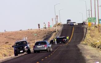 The crash occurred around 1:10 p.m. Thursday, Nov. 19, on Avenue A, just west of SR-14, CHP officials said. [LUIS MEZA]