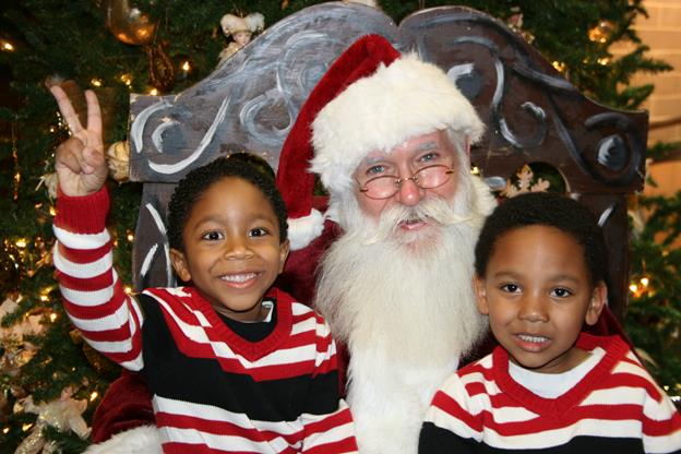 Santa Claus will be on hand to greet young and old on Dec. 2, Dec. 9, and Dec. 16. [contributed]