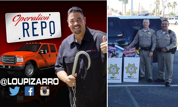 "Reality TV star Lou Pizarro from ""Operation Repo"" will be signing autographs from 10 a.m. to 12 p.m. Friday, Dec. 11, at the CHiPS for Kids ""Stuff-A-Bus"" toy drive at the Palmdale Walmart on 10th Street West. You can help donating a new, unwrapped toy. [contributed images]"