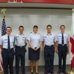 Scott and Joe Walker cadets Brennen Long, Ruben Duene, Vincent Van and Samuel Jones. [contributed]
