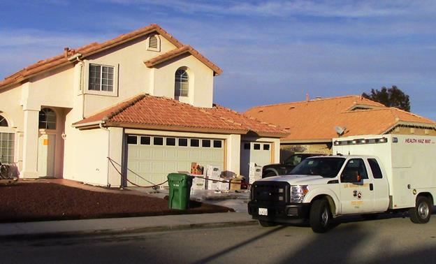 The bust happened Wednesday, Dec. 2, at a residence in the 5500 block of Laurel Avenue in Palmdale. [Photo by LUIS MEZA]