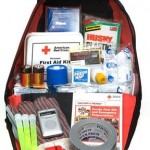 """Bug out"" bags are portable kits that contain the items required to survive for 72 hours when evacuating from a disaster. [Red Cross photo]"
