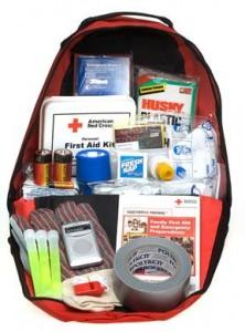 Off-the-shelf Red Cross preparedness kit . [Image courtesy Red Cross]