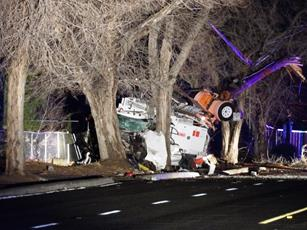 The fatal single-vehicle collision happened just after 1:30 a.m. Wednesday, Jan. 6, seconds after the truck was stolen, officials said. [LUIS MEZA]