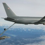 The KC-46 Tanker Program reached a major milestone Jan. 24, when it successfully demonstrated its first-ever aerial refueling contact and fuel transfer with an F-16C from Edwards Air Force Base. (U.S. Air Force photo by Staff Sgt. Brandi Hansen)