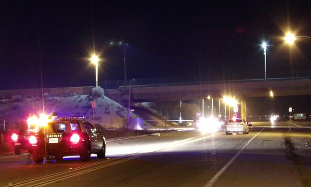 The fatal collision happened around 10:40 p.m. Sunday, Jan. 17, on Sierra Highway near Avenue H. [Photo by LUIS MEZA]