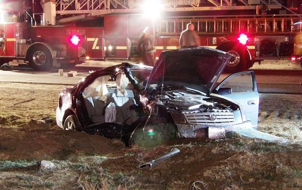 The driver of a 2006 Cadillac failed to yield the right-of-way and caused a collision around 6:50 p.m. Wednesday, Feb. 10, in the intersection of 60th Street West and SR-138, according to the California Highway Patrol. [Photo by JOHN MEZA]
