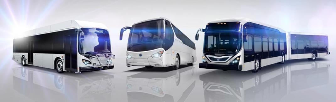 BYD Motors will build an all electric 40 ft. low floor transit bus, a 60 ft. low floor articulated bus, and a 45 ft. commuter coach bus for the AVTA.