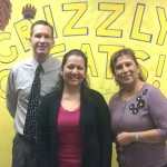 Golden Poppy Principal Ryan Beardsley, Paraeducator Jessica Albornoz, and District Administrator Assistant Rosa Armstrong. [contributed]