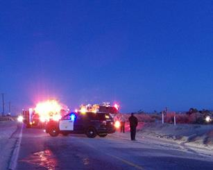 The fatal collision occurred on Palmdale Boulevard near 80th Street East, officials said. [LUIS MEZA]