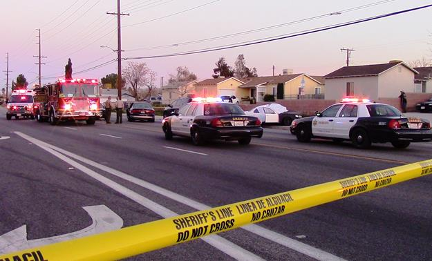 The two-vehicle crash happened around 5:10 p.m. Friday, Feb. 19, on Avenue R at Lasker Avenue. [Photo by LUIS MEZA]