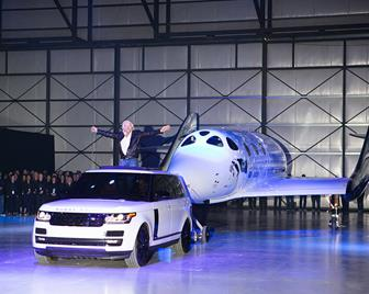 VSS Unity featured a new silver and white livery and was guided into position by one of the company's support Range Rovers, provided by its exclusive automotive partner Land Rover. [Jack Brockway]
