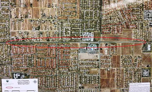 The storm drain project is part of the Avenue S Widening Phase II (Capital Improvement Project 590), which was awarded to R.C. Becker & Son, Inc., of Santa Clarita at the Palmdale City Council meeting on December.