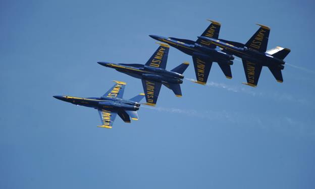 The United States Navy Blue Angels Demonstration Squadron will roar across the skies as the headlining act of the 2016 Los Angeles County Air Show. [contributed]