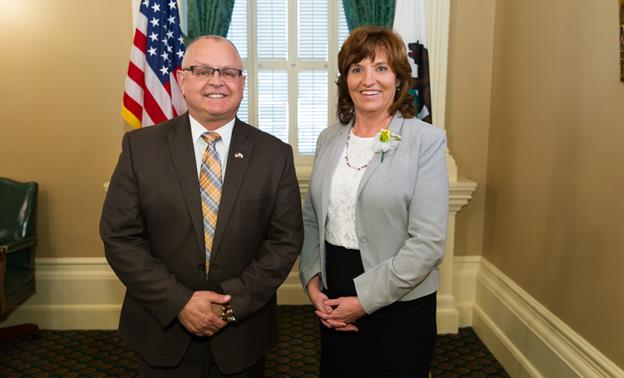 Assemblyman Tom Lackey and Mary Reina. [contributed]