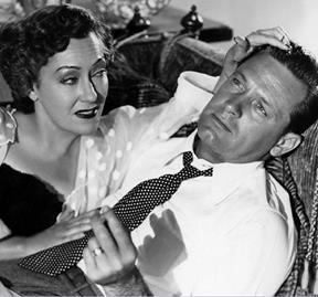 William Holden and Gloria Swanson star in Sunset Boulevard.