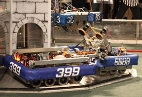 The team's robot Chames is named after their late mentor, Mr. Chambers. [contributed]