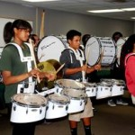 A drum line performs at the event to announce details of the inaugural Community Cultural Heritage & Service Day. [contributed]