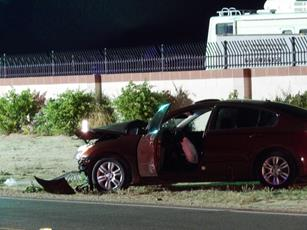 The  Nissan Altima failed to stop at the posted stop sign at the intersection of Avenue H, according to witnesses. [LUIS MEZA]