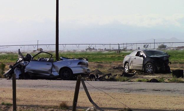 The fatal collision happened around 3:50 p.m. Thursday, April 14, on Avenue E, east of 70th Street East. [Photo by LUIS MEZA]