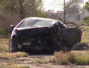 The Integra crashed into a 2008 Honda Civic being driven by a 36-year-old Lancaster woman, CHP officials said. [LUIS MEZA]