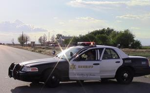 The suspect was detained by responding deputies and arrested. His name was not immediately released. [LUIS MEZA]