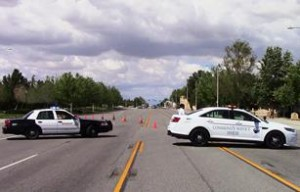 Sierra Highway at the intersection of Avenue Q-12 was closed until approximately 5:45 p.m. while the incident was being investigated. [LUIS MEZA]