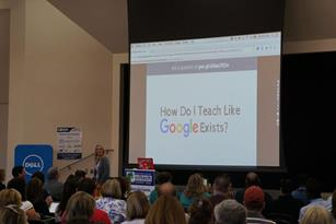 The conference featured Google certified teacher Alice Keeler as a keynote speaker. [contributed]