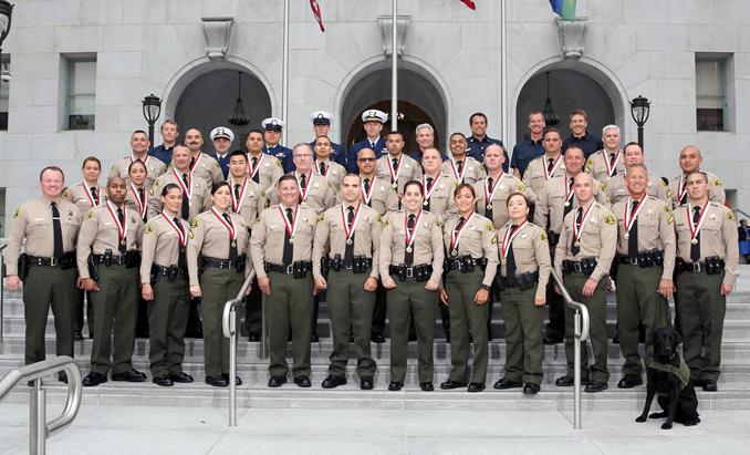 Sheriff Jim McDonnell along with Assistant Sheriff Todd Rogers hosted the Los Angeles County Sheriff's Department (LASD) Life Saving Award Ceremony.