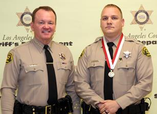 David A. Nisenoff of the Palmdale Sheriff's Station [right] was among the honorees. [contributed]