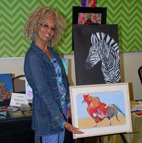 Juanita McWilliams was one of several local artists who participated.