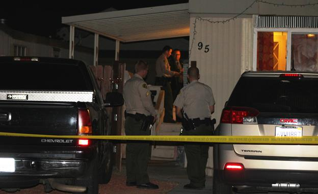 The fatal shooting was reported around 3:45 p.m. Monday, May 30, at a trailer park in the 3500 block of East Avenue R in Palmdale, sheriff's officials said. [Photo by LUIS MEZA]