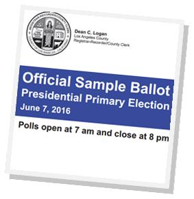 Sample ballots presidential primary