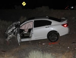 The driver of the Honda Accord, 61-year-old Cheryl A. Harris of Lancaster, sustained major injuries in the collision. (LUIS MEZA)