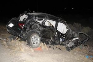 Two women and a toddler in the Ford Escape died. The driver, 37-year-old Eric D. Johnson of Palmdale, sustained major injuries and will be arrested, according to the CHP. (LUIS MEZA)