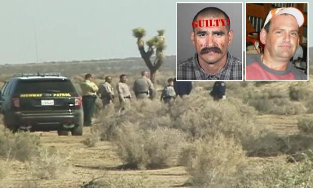 [Main image] Authorities investigate the scene where Stephen Finson was found dead Feb. 24, 2014. [Inset] Arturo Lopez and victim Stephen Finson.