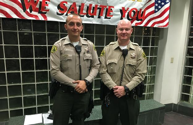 Deputies Darrin Van Arsdale and John Fink. [Image courtesy LASD]