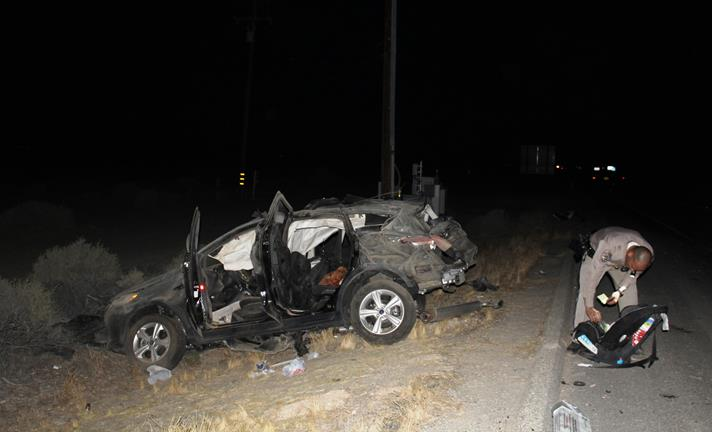 Victims Michelle Maxie, 36, and Anaya Clayton, 2, both of Arizona, and Maisha Garrett, 37, of Paramount, all were passengers in the Eric Johnson's Ford Escape when it collided with a Honda Accord around 9:19 p.m. on Sunday, June 19, near Avenue D and the Antelope Valley Freeway. [Photo by LUIS MEZA]