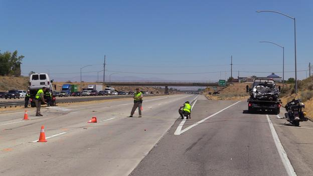 The fatal collision happened around 9:37 a.m. Thursday, July 14, on the northbound 14 Freeway, just south of Avenue N, the CHP reported. [LUIS MEZA]