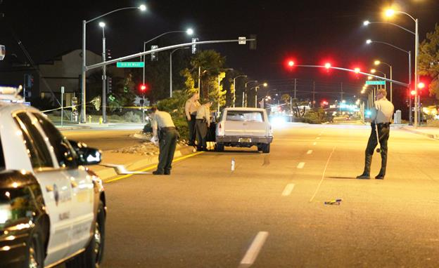 The collision occurred around 8 p.m. Wednesday, July 6, on Palmdale Boulevard, east of 5th Street West, sheriff's officials said. [Photo by LUIS MEZA]