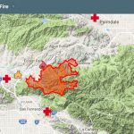 Sand Fire Google map