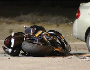 A motorcyclist died in the crash. [LUIS MEZA]