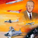 """A portrait of Neil Armstrong painted by Robert Schaar in 2001 for the """"Walk of Honor"""" series (Credit: NASA)"""