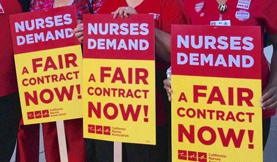 [Image courtesy: California Nurse's Assoc.]