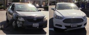 The bicyclist was struck by a 2009 Toyota Corolla and a 2015 Ford Fusion. [JOHN MEZA]