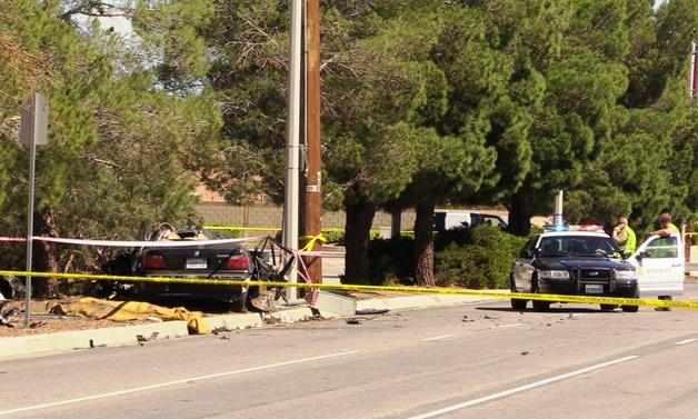 The fatality occurred about 11:55 a.m. Friday, Sept. 30, at 20th Street East and Avenue K in Lancaster. [Photo by LUIS MEZA]